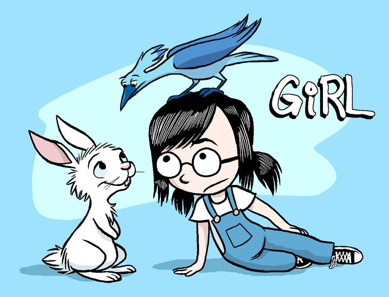 Girlrabbitbird